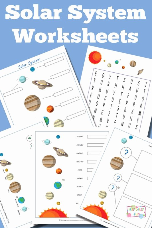 Solar System Worksheets for Preschoolers Ideas solar System Worksheets for Kids Itsybitsyfun