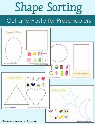 Sorting Math Worksheets for Preschoolers New Shape sorting Worksheet Packet Mamas Learning Corner