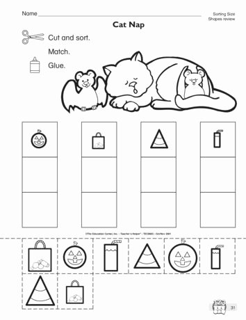 Sorting Math Worksheets for Preschoolers top This Math Worksheet Has Students sorting Shapes Of Different