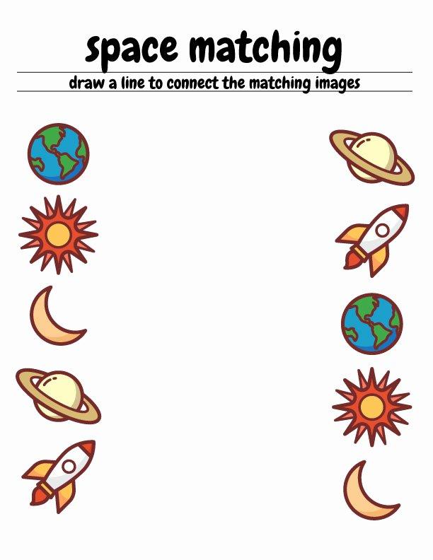 Space Worksheets for Preschoolers New Worksheet Spacematching Free Space Preschoolorksheets the
