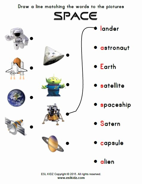 Space Worksheets for Preschoolers Printable Space Activities Games and Worksheets for Kids