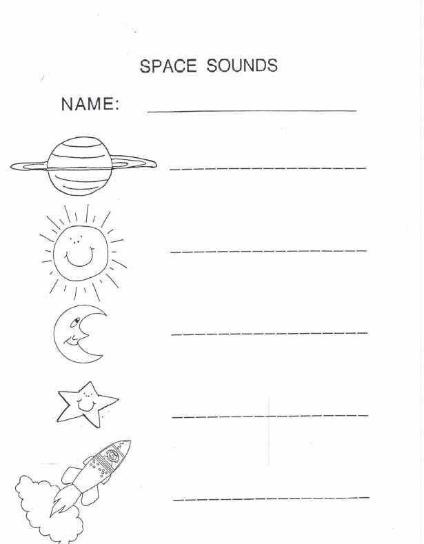 Space Worksheets for Preschoolers top Outer Space Worksheets for Kids Activity Shelter Preschool
