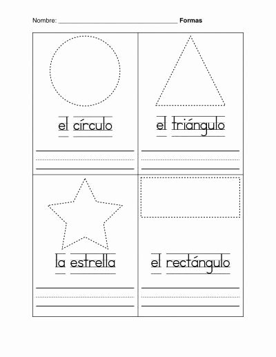 Spanish Printable Worksheets for Preschoolers Kids Beginner Spanish Worksheets Printable