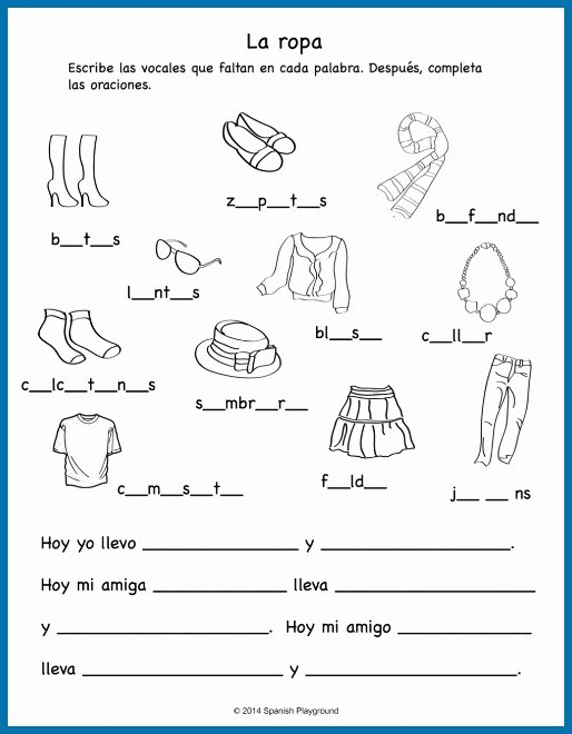 Spanish Printable Worksheets for Preschoolers New Los Colores Worksheet Español From Spanish for Kids