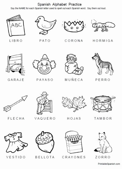 Spanish Printable Worksheets for Preschoolers top Free 8 Page Printable Packet Spanish Alphabet Practice From