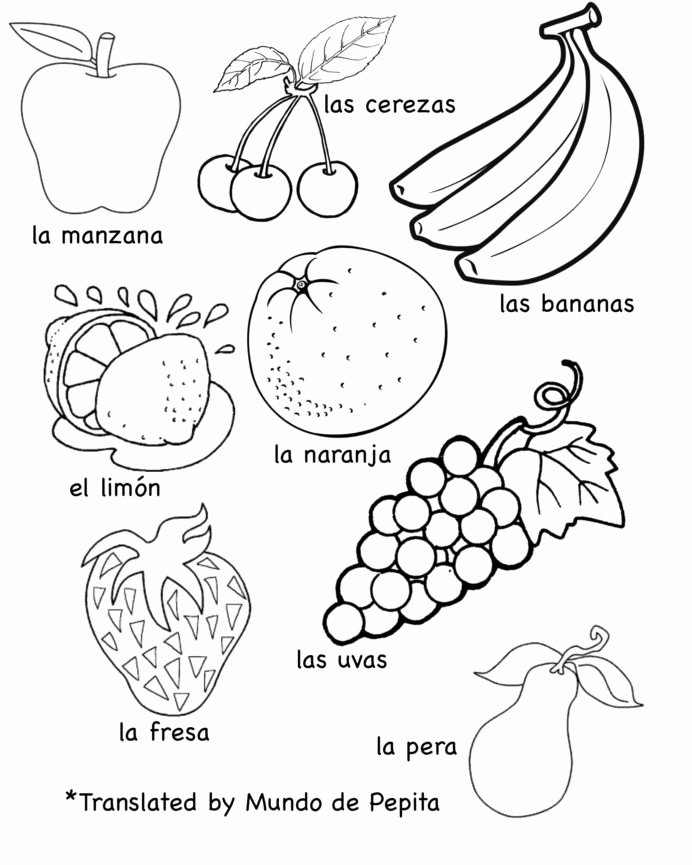 Spanish Worksheets for Preschoolers Best Of Multilingual Printables Fruits and Ve Ables In Languages