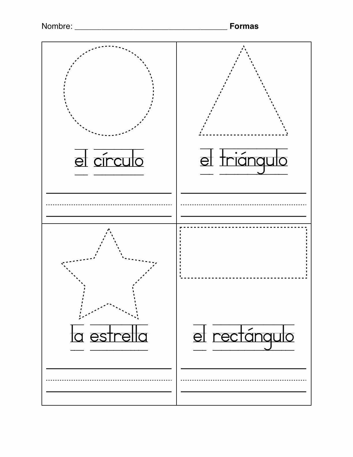 Spanish Worksheets for Preschoolers New Basic Shapes In Spanish formas Basicas Worksheet