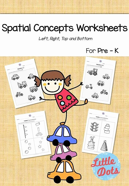 Spatial Concepts Worksheets for Preschoolers Inspirational Little Dots Studio Free Spatial Concepts Math Worksheets
