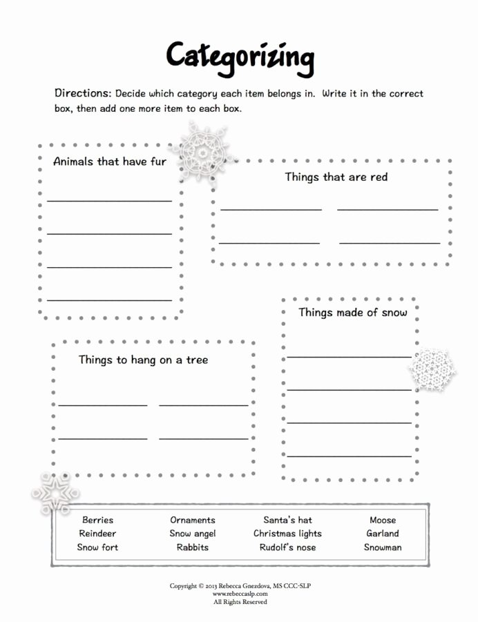 Speech therapy Worksheets for Preschoolers New Freebie Expressive Language Worksheets Winter Speech therapy