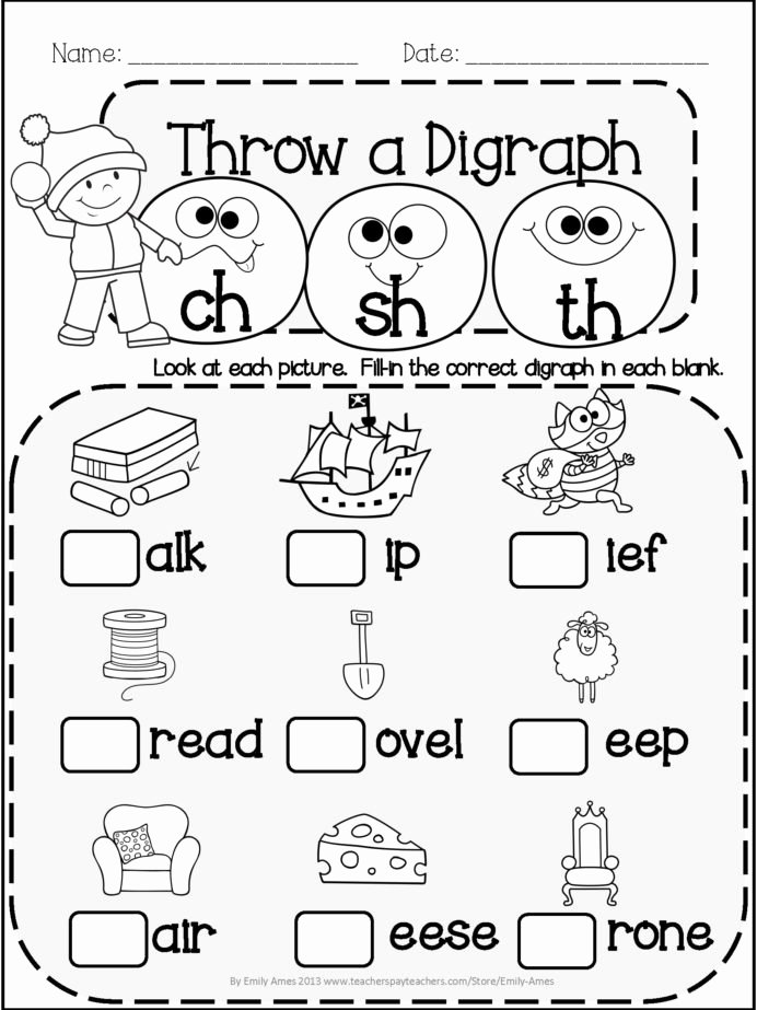 Speech therapy Worksheets for Preschoolers New Th Worksheet Printable Worksheets and Activities for