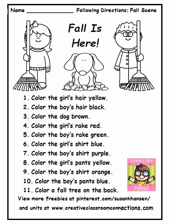 Speech Worksheets for Preschoolers Best Of This Free Printable is A Great Fall Activity for Following