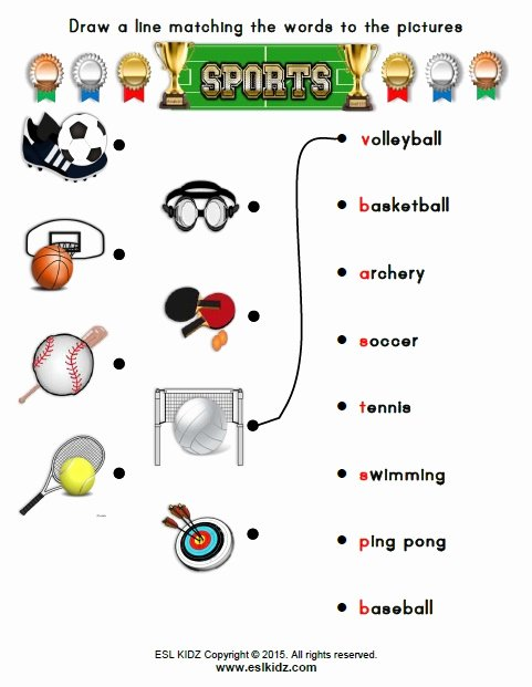 Sports Worksheets for Preschoolers Ideas Sports Activities Games and Worksheets for Kids