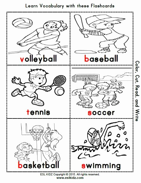 Sports Worksheets for Preschoolers Inspirational Sports Activities Games and Worksheets for Kids