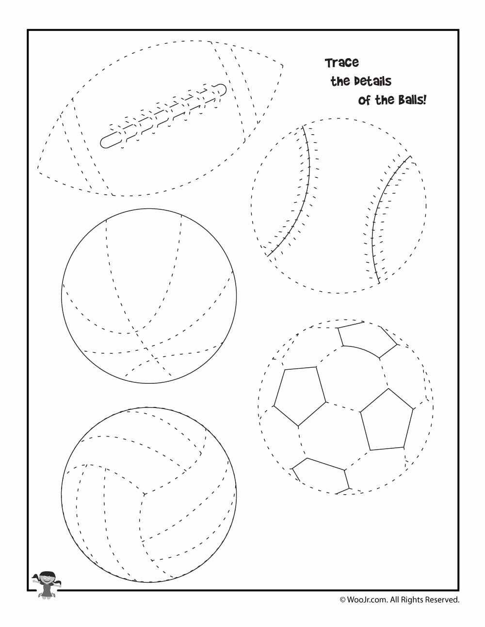 Sports Worksheets for Preschoolers Inspirational Summer Sports Tracing Worksheet