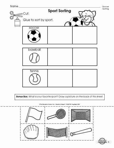 Sports Worksheets for Preschoolers Kids Pin On Life Skills
