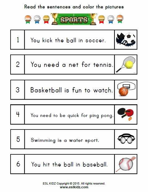 Sports Worksheets for Preschoolers Kids Sports Activities Games and Worksheets for Kids