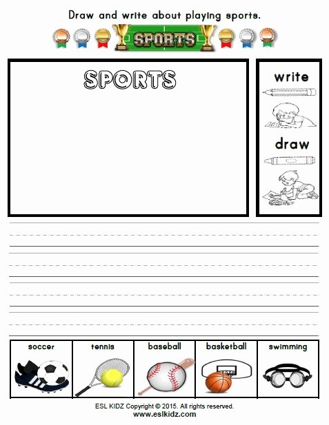 Sports Worksheets for Preschoolers New Sports Activities Games and Worksheets for Kids