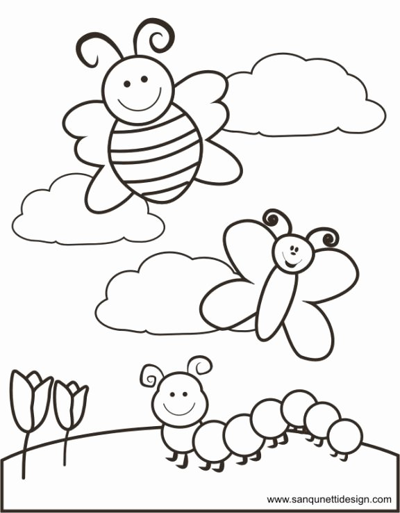 Spring Coloring Worksheets for Preschoolers Best Of Springtime Coloring Page