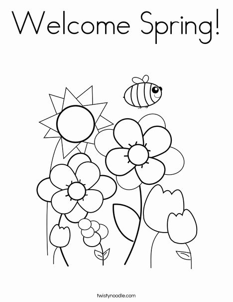 Spring Coloring Worksheets for Preschoolers Best Of Wel E Spring Coloring Free for Preschoolers Easy Math