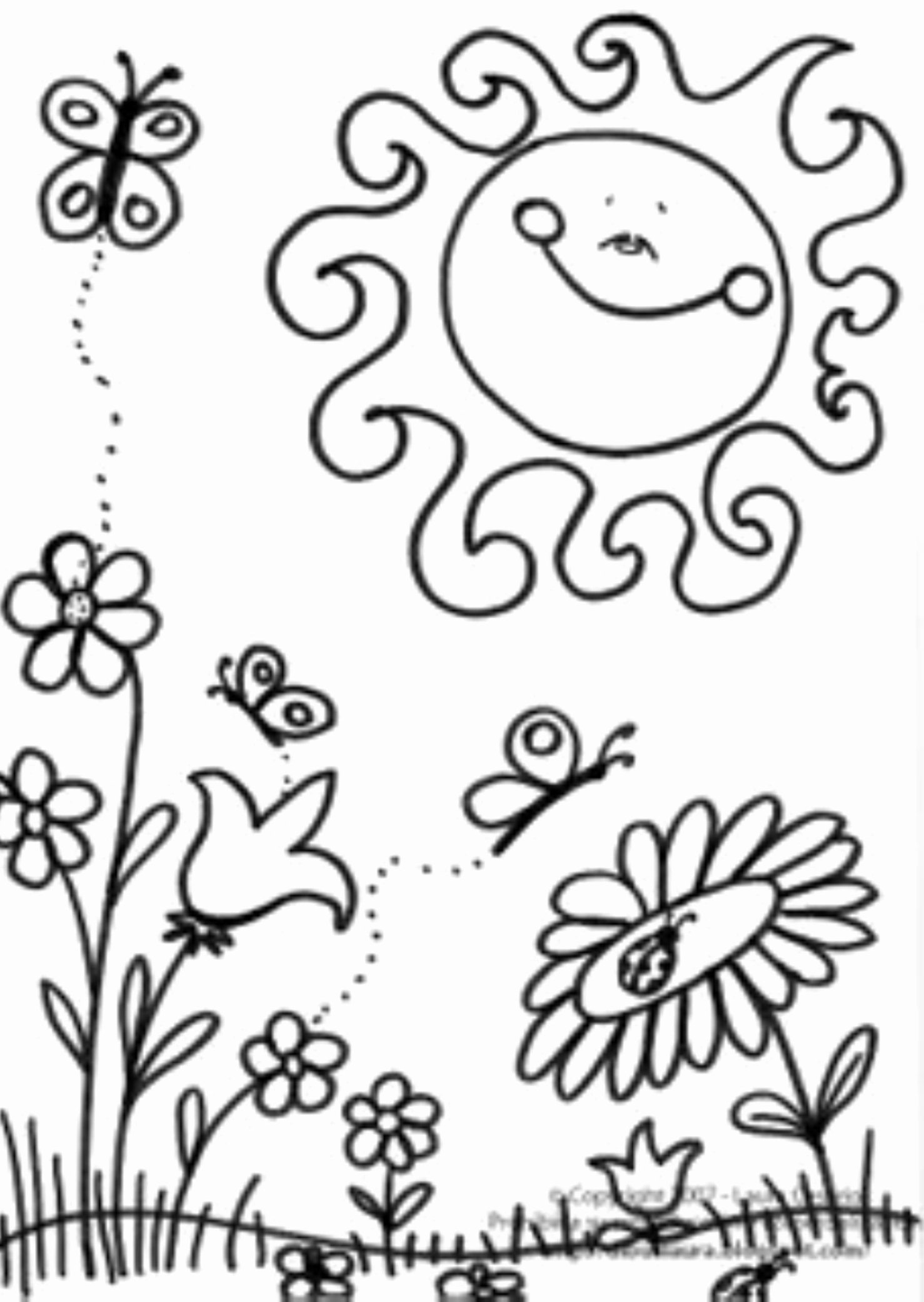 Spring Coloring Worksheets for Preschoolers Inspirational Spring Coloring Pages Printablee Sheet