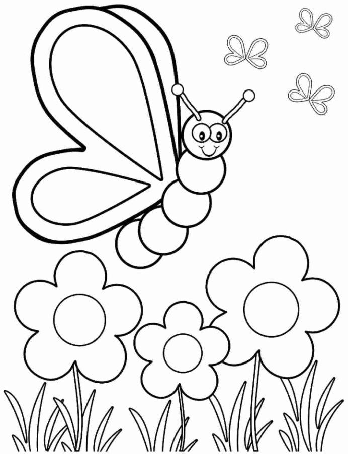 Spring Coloring Worksheets for Preschoolers Kids Spring Coloring for Preschoolers Free Kindergartenets Kids