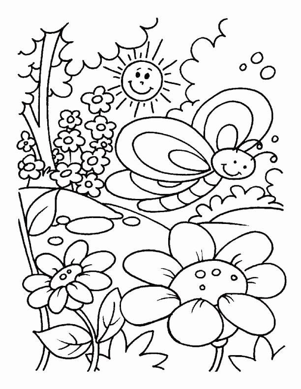 Spring Coloring Worksheets for Preschoolers Printable Flower Coloring Pdf Capture Excellent Printable Spring Kids