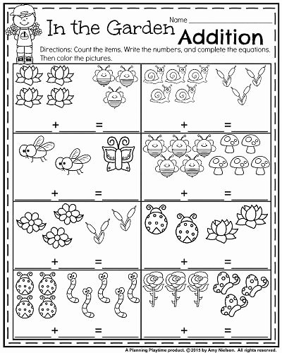 Spring Math Worksheets for Preschoolers New Kindergarten Worksheets for May Planning Playtime