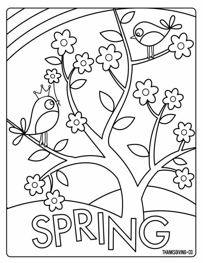 Spring Season Worksheets for Preschoolers Printable Coloring Pages Coloring Spring Coloringheets Happy for
