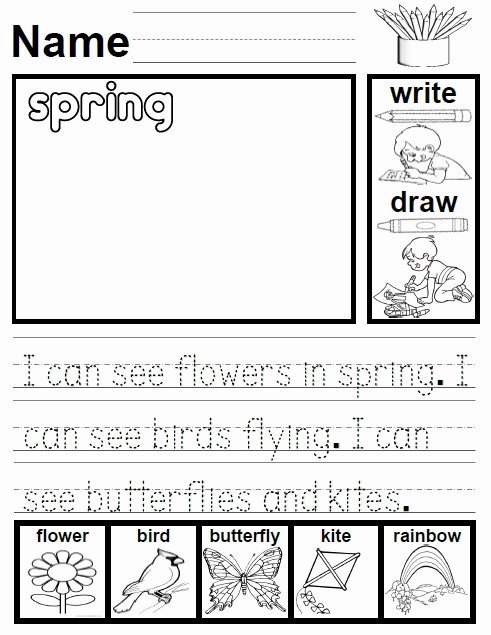 Spring Season Worksheets for Preschoolers Printable Spring Activities Games and Worksheets for Kids