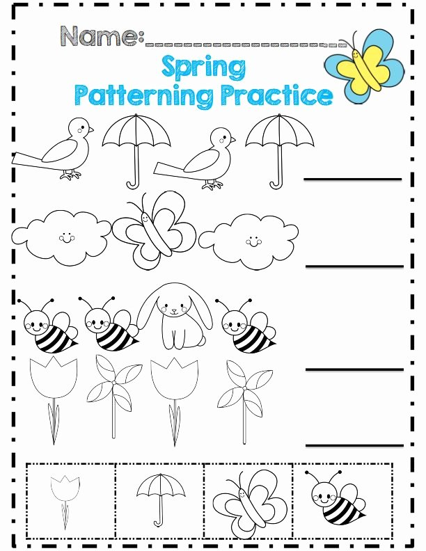 Spring themed Worksheets for Preschoolers Ideas Spring Worksheet for Kids Crafts and Worksheets Preschool