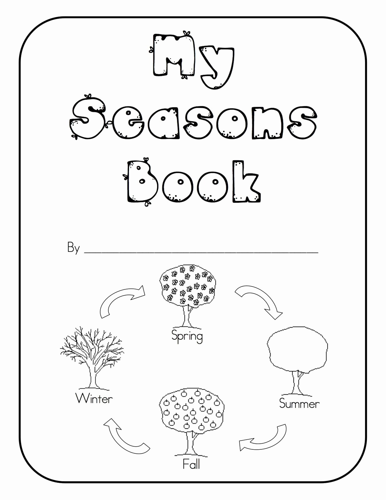 Spring themed Worksheets for Preschoolers New Seasons Kindergarten Books Spring themed Worksheets