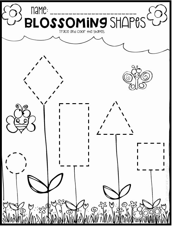 Spring Tracing Worksheets for Preschoolers Free Spring Math and Literacy Worksheets for Preschool Distance