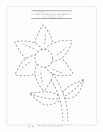 Spring Tracing Worksheets for Preschoolers Free Spring Tracing Worksheets Itsybitsyfun