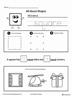 Square Shape Worksheets for Preschoolers Fresh All About Square Shapes