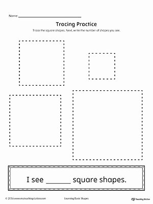Square Shape Worksheets for Preschoolers Fresh Geometric Shape Counting and Tracing Square