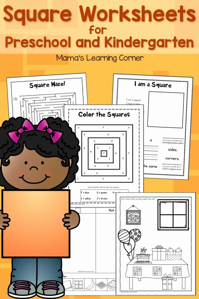 Square Worksheets for Preschoolers Best Of Square Worksheets for Preschool and Kindergarten Mamas
