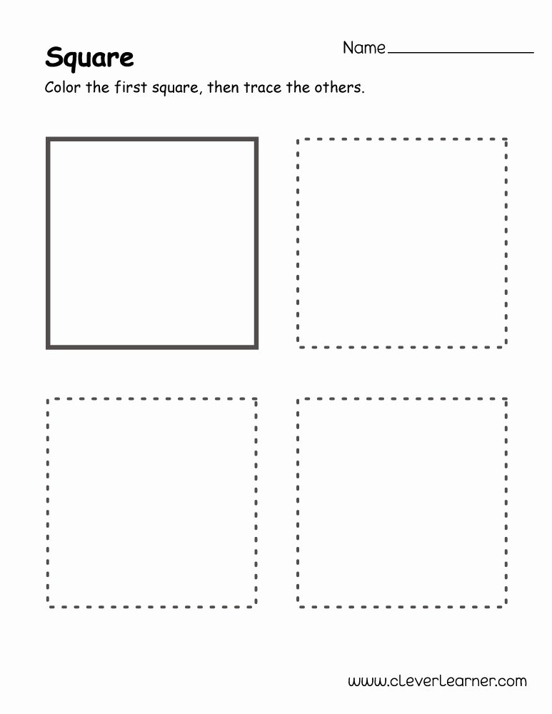 Square Worksheets for Preschoolers Fresh Free Square Shape Activity Sheets for School Children