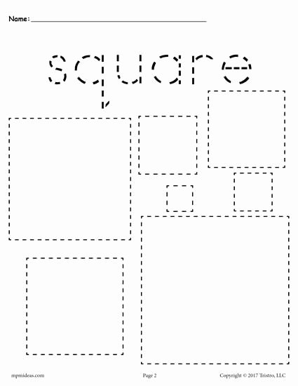 Square Worksheets for Preschoolers Lovely 12 Shapes Tracing Worksheets