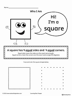 Square Worksheets for Preschoolers top Learning Basic Geometric Shape Square