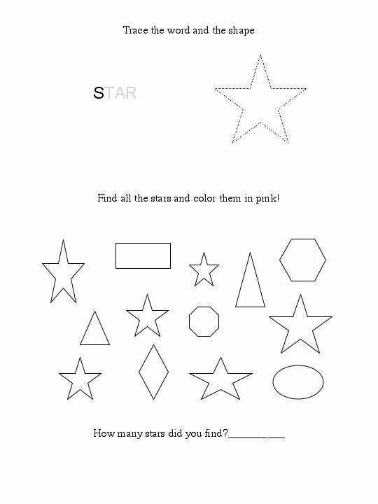 Star Worksheets for Preschoolers Free 6 Best Printable Preschool Worksheets Star Tracing