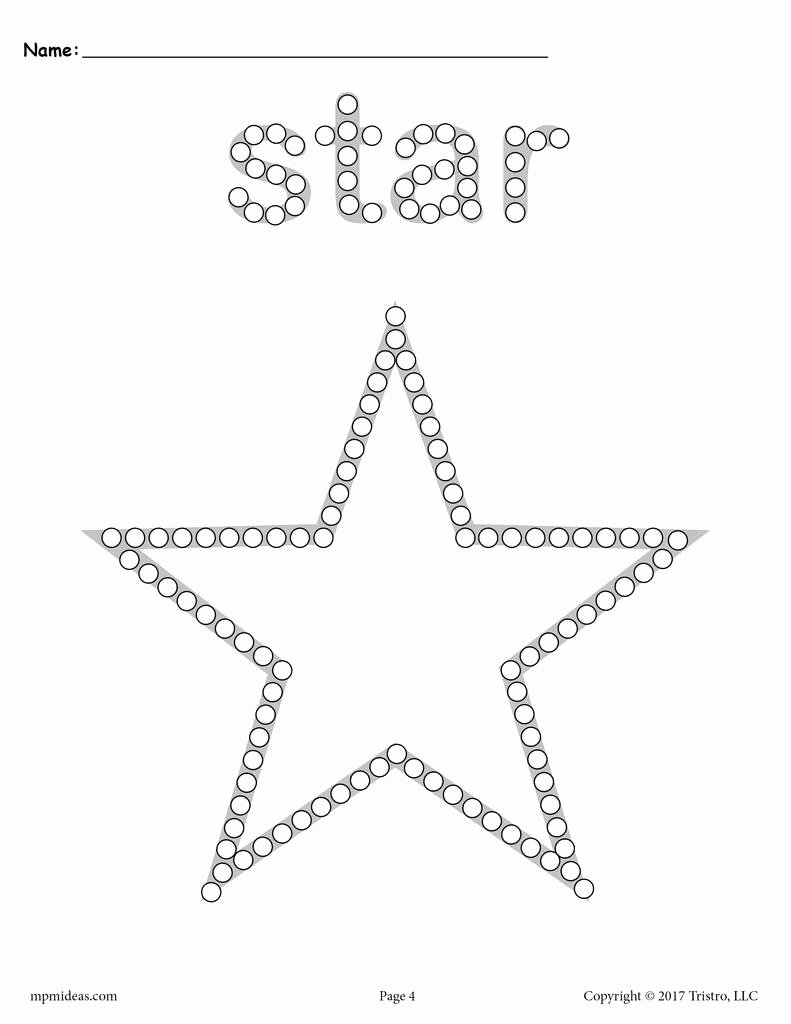 Star Worksheets for Preschoolers Free Star Q Tip Painting Printable