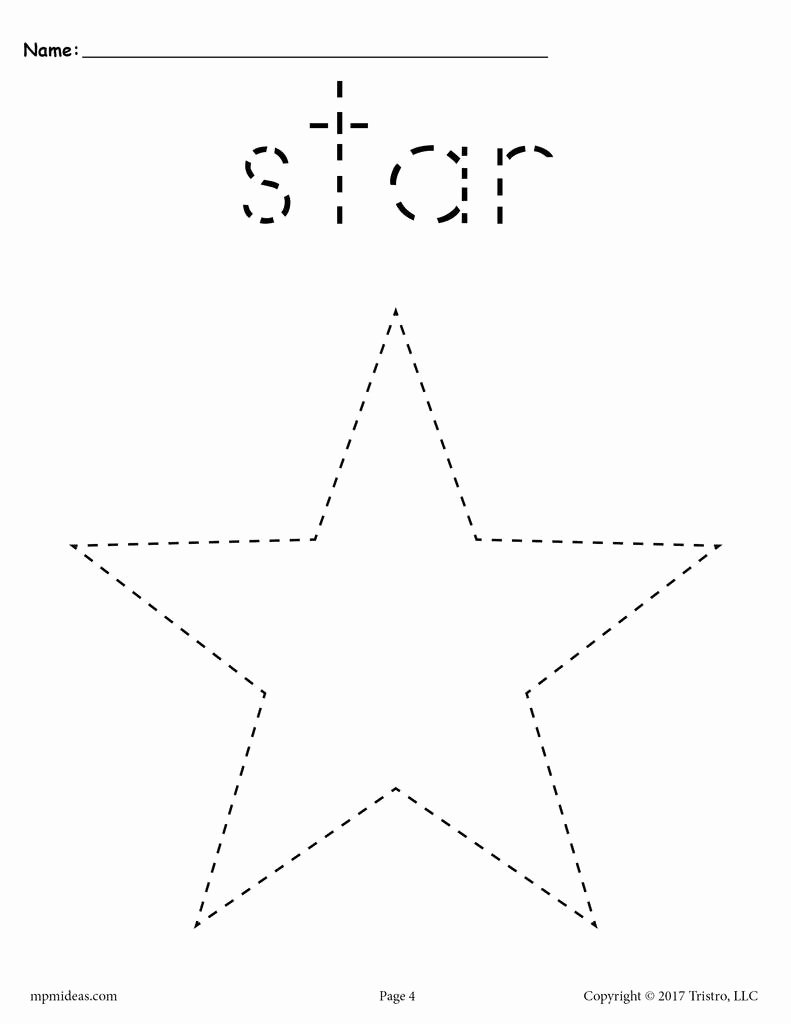 Star Worksheets for Preschoolers Ideas Star Tracing Worksheet
