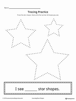 Star Worksheets for Preschoolers New Geometric Shape Counting and Tracing Star