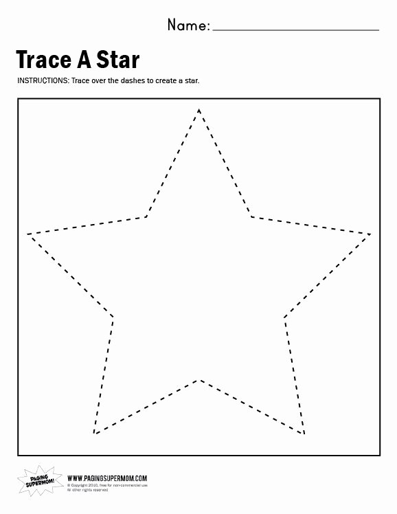 Star Worksheets for Preschoolers top Trace A Star Worksheet Paging Supermom