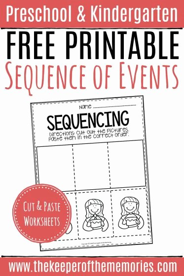 Story Sequencing Worksheets for Preschoolers Free Free Printable Sequence Of events Worksheets