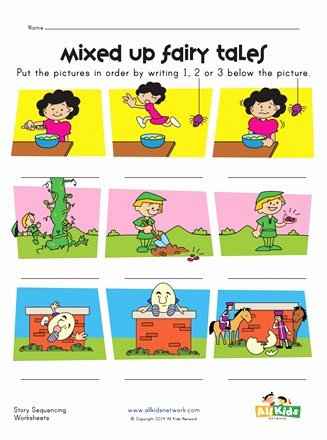 Story Sequencing Worksheets for Preschoolers Fresh Fairy Tales Story Sequence Worksheet