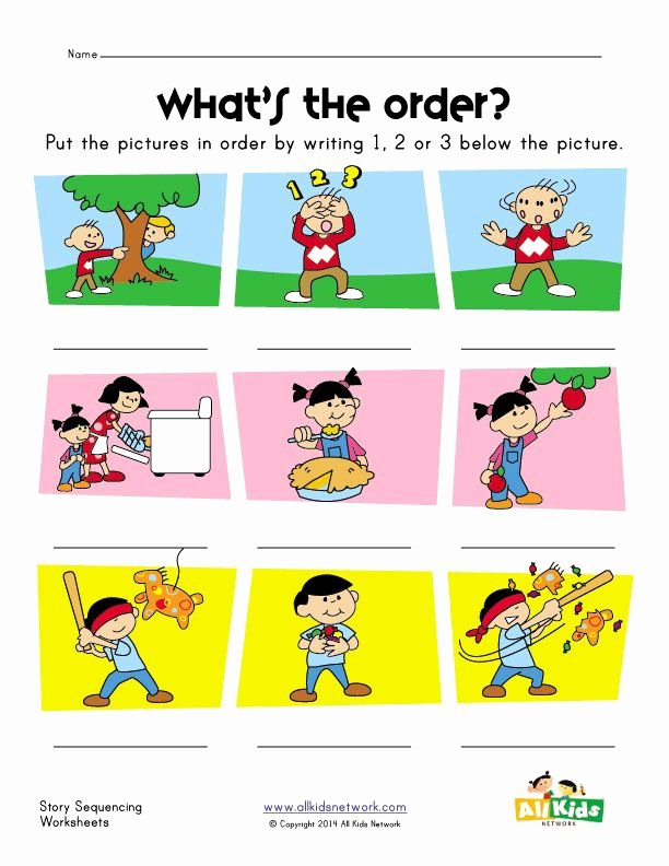 Story Sequencing Worksheets for Preschoolers Lovely Story Sequence Worksheet