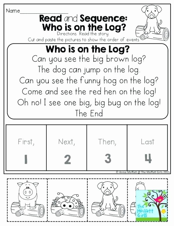 Story Sequencing Worksheets for Preschoolers New Sequencing Activities for Kindergarten Free Printable