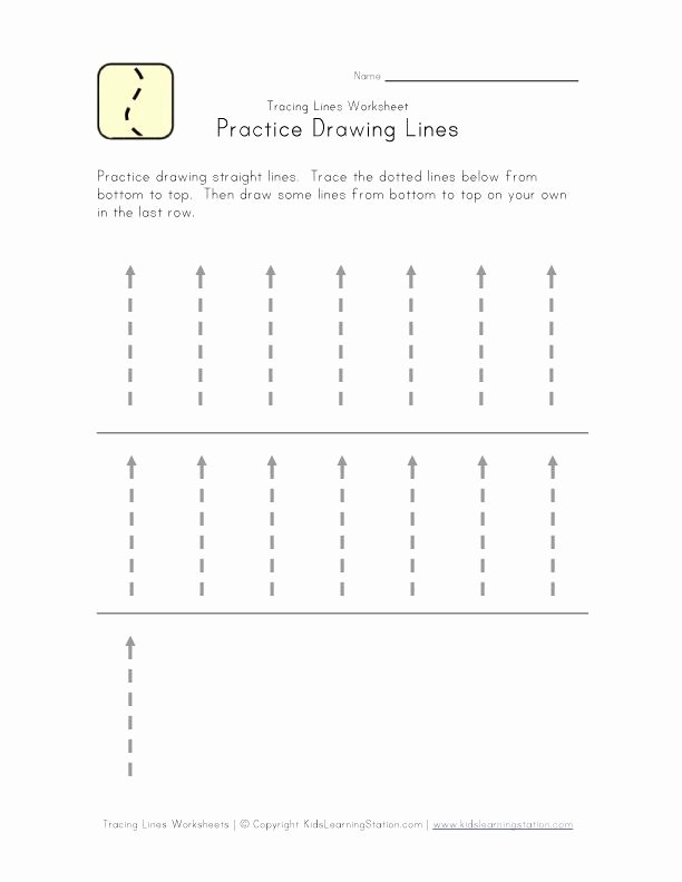 Straight Line Worksheets for Preschoolers Lovely Traceable Lines Worksheet Bottom to top