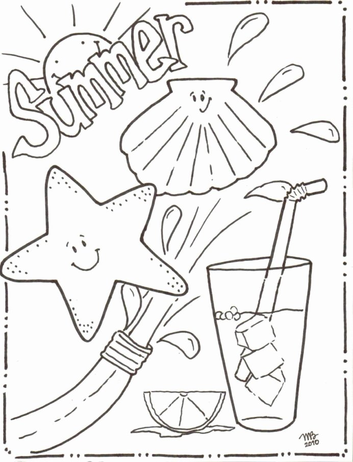 Summer Activities Worksheets for Preschoolers New Coloring Book to Print Summer for Kids Simple Numbers